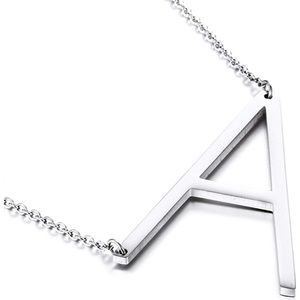 Alphabet large letter A necklace